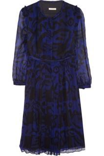 Burberry Brit Printed silk-chiffon dress