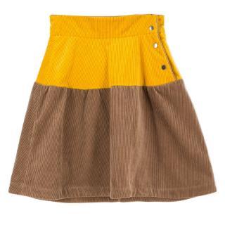 Marni corduroy colour block skirt