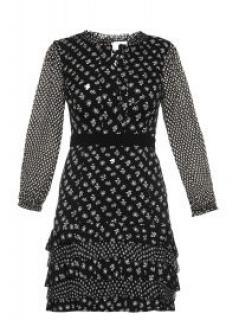 Diane Von Furstenberg Fiona Daisy Buds Silk Blend A-line Dress