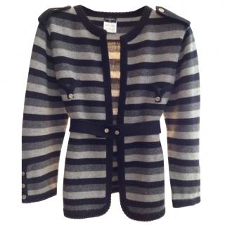 Chanel Cashmere Cardigan Knit Style Jacket
