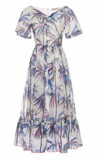 Emilio Pucci Leaf Print A Line Dress
