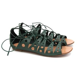 Proenza Schouler lace-up gladiator leather sandals