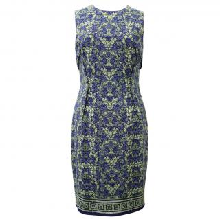 Versace Collection Printed Sleeveless Dress