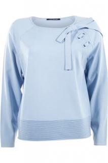 Luisa Cerano Baby Blue Ribbon Sweater