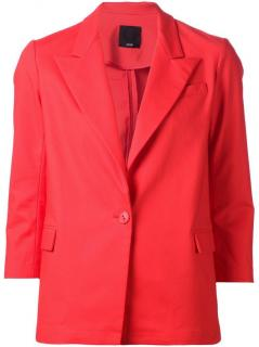Ji Oh red cotton blazer