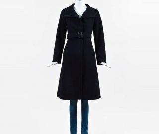Burberry black wool cashmere coat