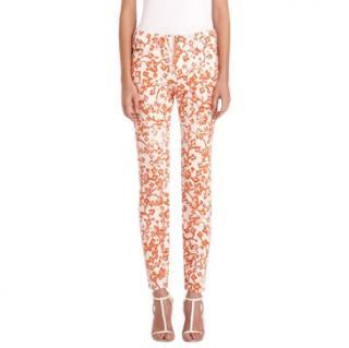 DVF Loves Current/Elliott skinny floral print jeans