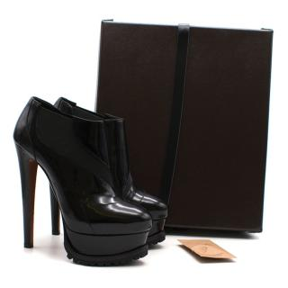 Alaia Benoit 165 patent leather shoe boots