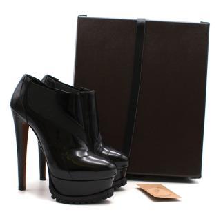 Alaia Benoit 165 patent leather shoe boots