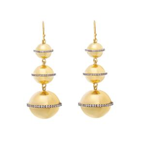 Ileana Makri Triple Planet Sapphire Earrings