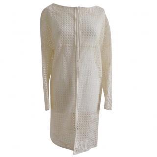 Ermanno Scervino Cream Lace Crochet Floral Bridal Coat