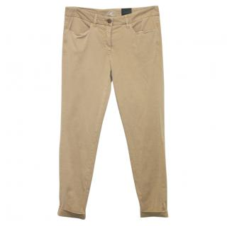 Luisa Cerano Beige Stretch Trousers