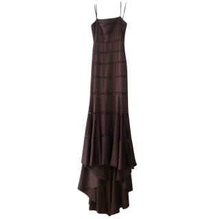 BCBG Fishtail Strapless Art Deco Dress