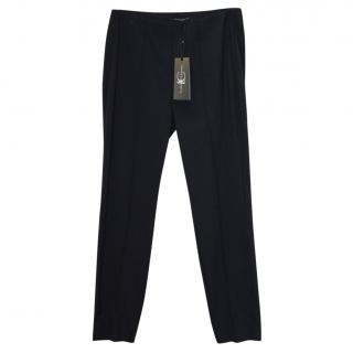 Luisa Cerano Navy Slim Fit Trousers