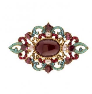 Satellite-Paris Pearl, Glass and Swarovski Crystal Brooch