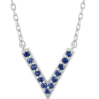 Sabine Getty Sapphire 18ct gold V Necklace