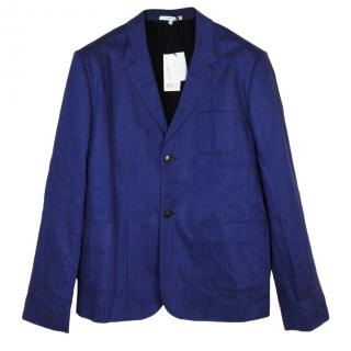Carven linen and cotton blue jacket