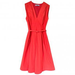 Blumarine A-line Poplin Dress
