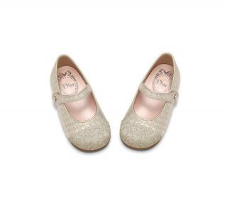 Dior Girl's Golden Glitter Mary Jane Shoes