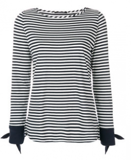 Luisa Cerano striped bow sleeve top