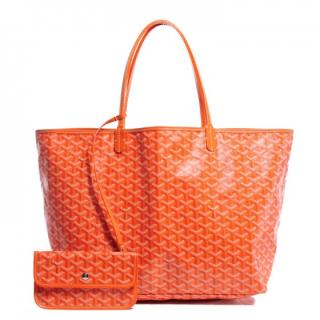 Goyard St Louis shopping tote with pouch and wallet