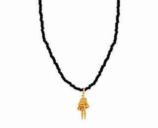 Luis Morais To the Bone 14ct Gold 'Peace' Necklace