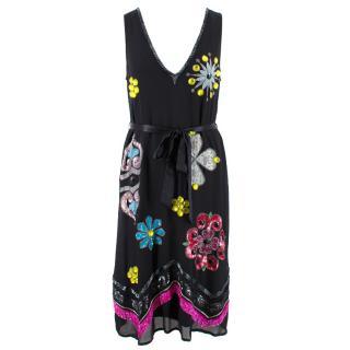 Matthew Williamson Embellished Silk Dress