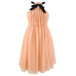 Chanel Halter Neck Silk Tulle Paris/Monte Carlo Dress