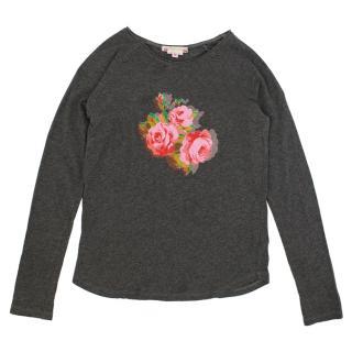 Bonpoint Girl's Jersey Long Sleeve Tee-Shirt