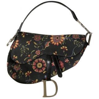 Christian Dior Floral saddle bag