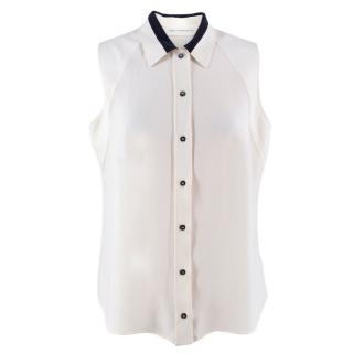 Victoria Victoria Beckham silk blend sleeveless top