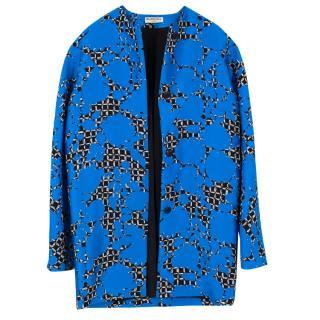 Balenciaga silk blend printed coat