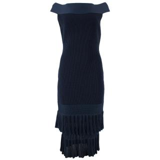 Roland Mouret off the shoulder tiered dress