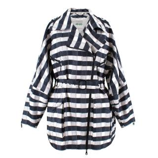Kenzo Striped Asymmetric Zip jacket