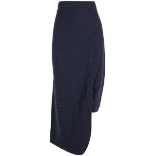 J.W. Anderson Infinity navy merino wool skirt