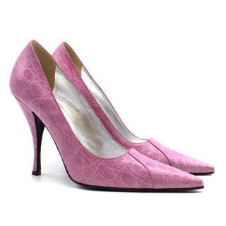 Dolce & Gabbana embossed crocodile heels