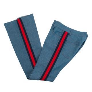 Gucci GG Web Stripe Flared Jeans