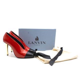 Lanvin Two Tone Leather Pumps