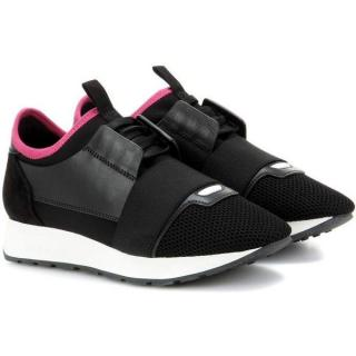Balenciaga pink and black Race Runner Sneakers