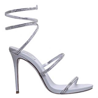 Rene Caovilla Seraphinite 105 Silver Jewelled sandals