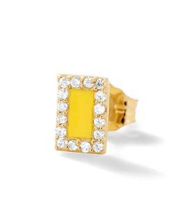 Alison Lou 14ct Gold Diamond Stud Earring