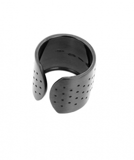 Roberto Marroni Plaster Ring in Solid Oxidised Silver - Current