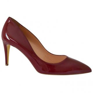 Rupert Sanderson Nada Red/Sangria Patent Leather Pumps