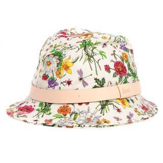 GUCCI floral canvas hat