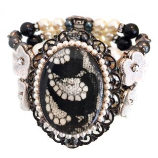 Reminiscence Paris Cameo Filigree Pearl and Crystal Bracelet