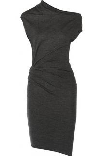 Helmut Lang 'Sonar Wool' Asymmetrical Sleeve Dress