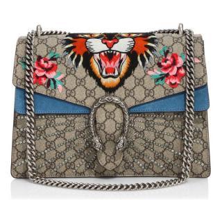 Gucci Dionysus Embroidered Tiger Head Medium Shoulder Bag
