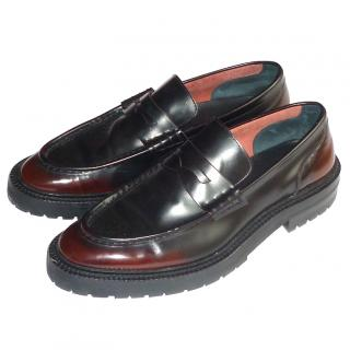 Burberry Burnished Leather Loafers