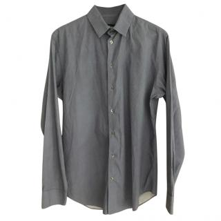 Giorgio Armani blue and white check shirt
