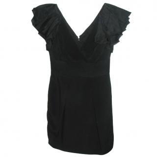 Marchesa Notta black silk dress